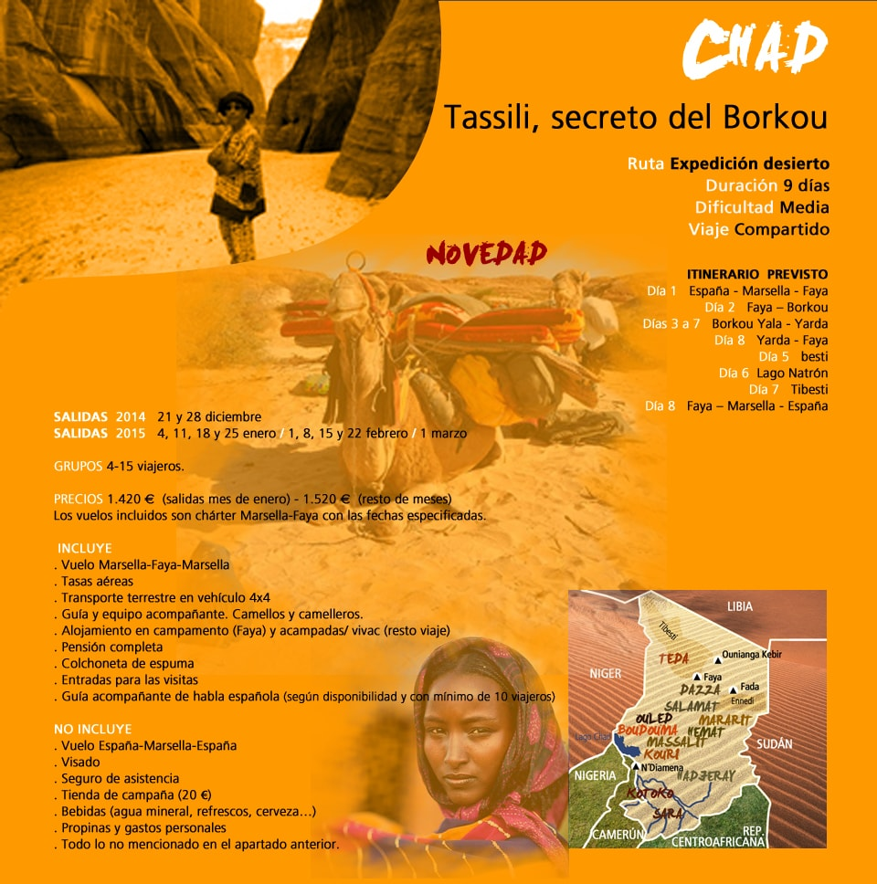 Viaje Chad - Tassili, secreto del Borkou