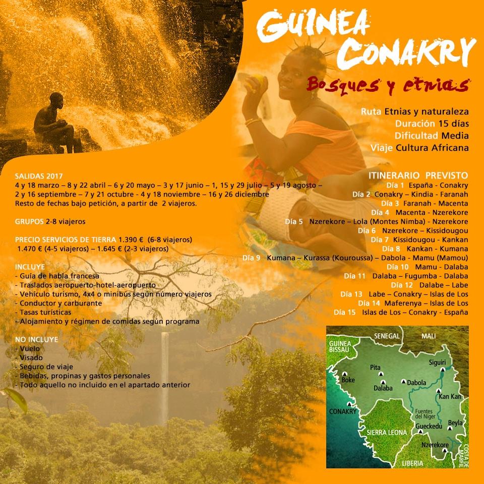 Viaje Guinea Conakry - Bosques y etnias