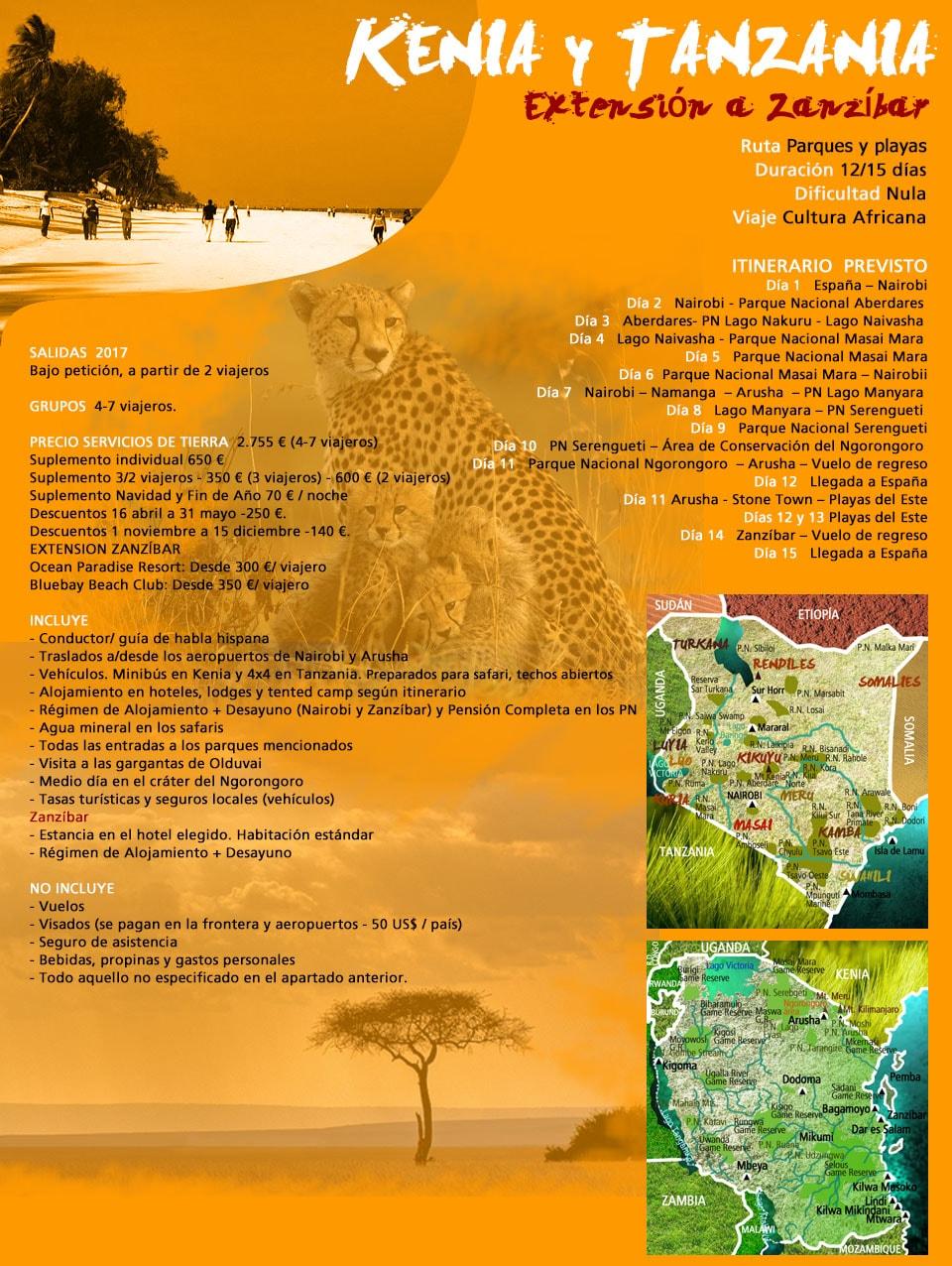 Viaje Safari Kenia y Tanzania - Extensión a Zanzíbar