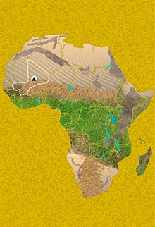 Mapa Viaje Malí