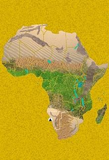 Mapa viaje Namibia