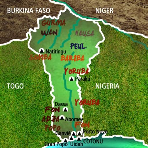Mapa Benin-Viaje