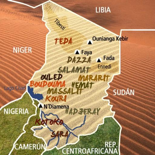 Mapa Chad. Viaje