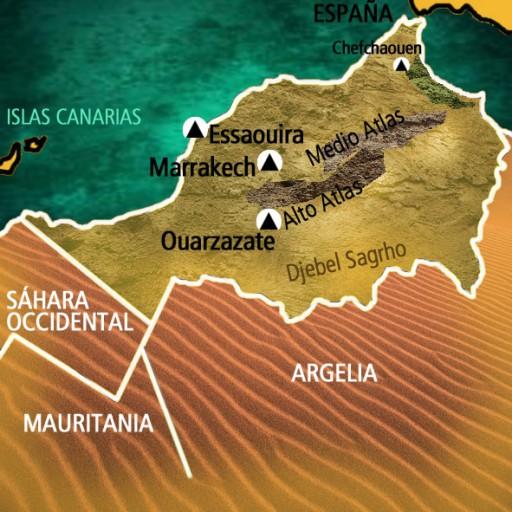 Mapa Marruecos. Viaje