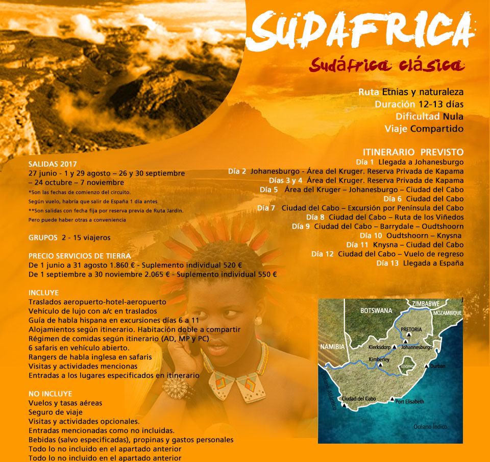 Viaje Sudáfrica - Descubre Sudáfrica