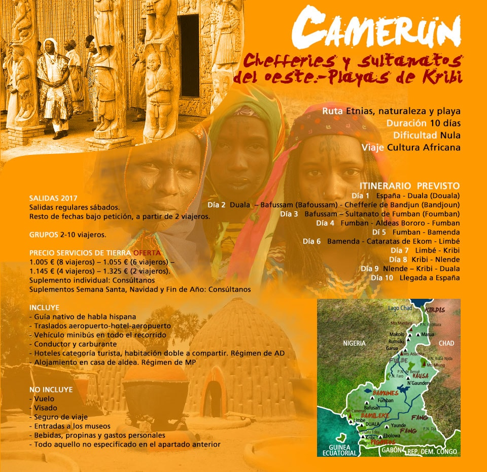 VIAJE A CAMERÚN - CHEFFERIES y SULTANATOS del OESTE