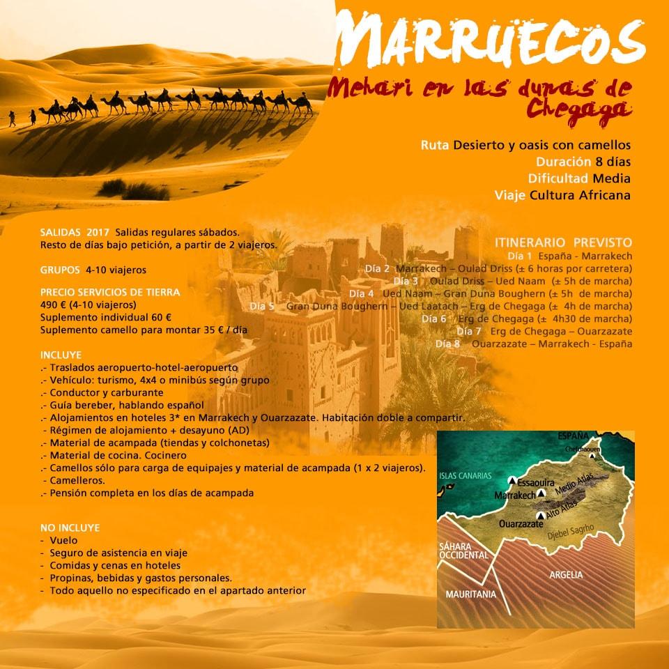 Viaje Marruecos - Mehari en las dunas de Chegaga