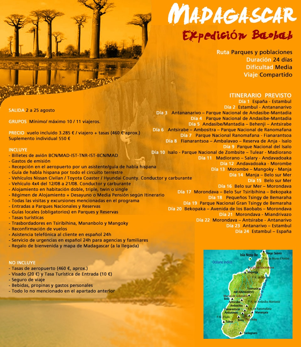 Viaje Madagascar - Expedición baobab
