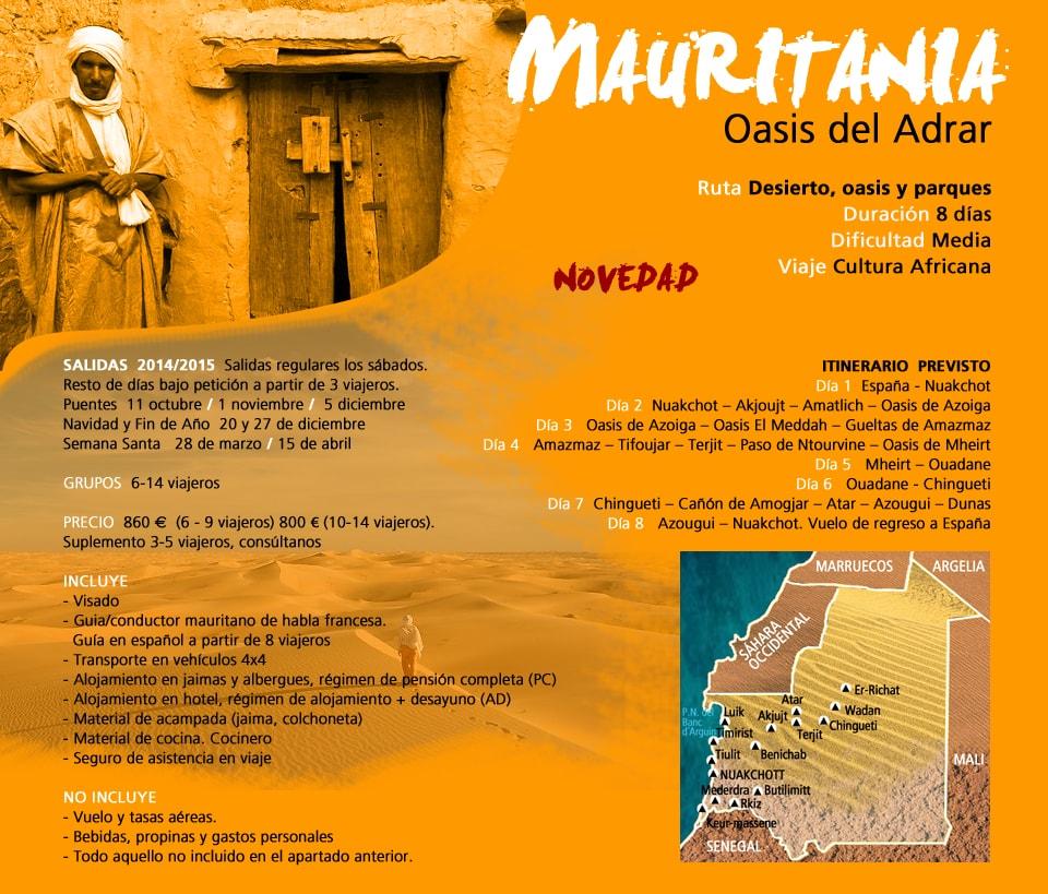 Viaje Mauritania - Oasis del Adrar