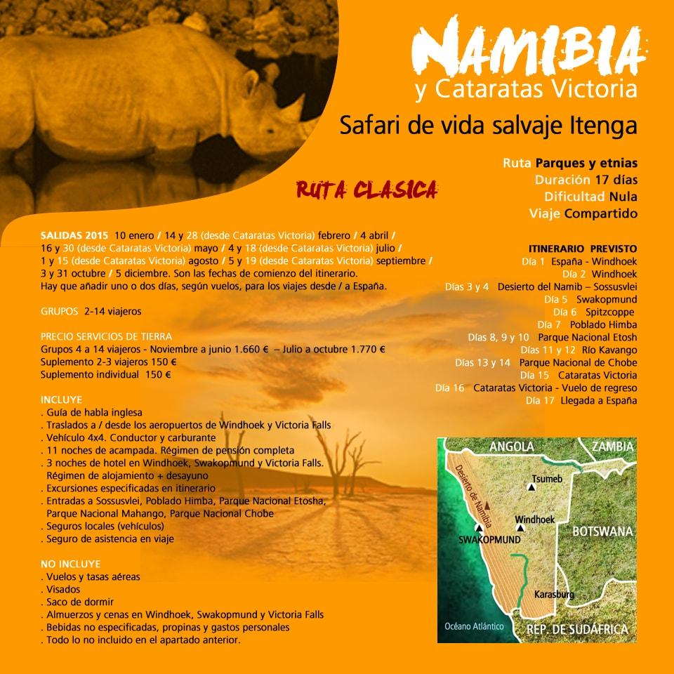 Viaje a Namibia y Cataratas Victoria - Safari Itenga
