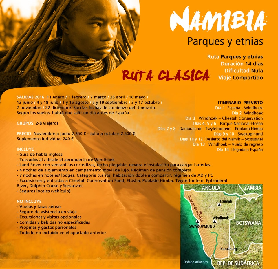 Viaje Safari - Namibia