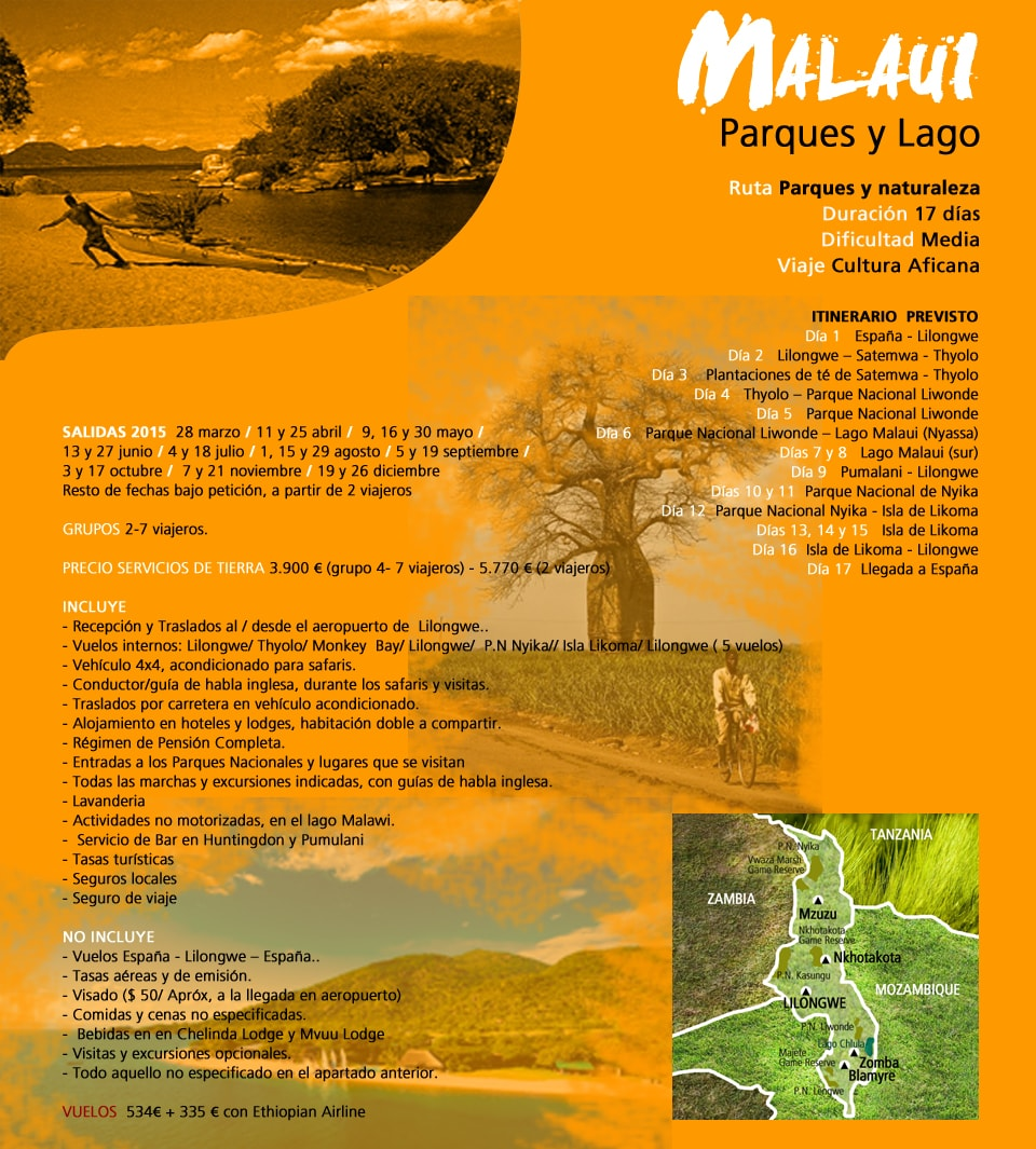 Viaje Malaui - Parques y lago