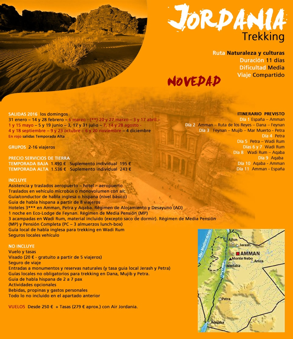 Viaje Jordania - Trekking