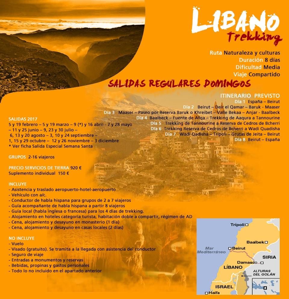 Viaje Líbano - trekking