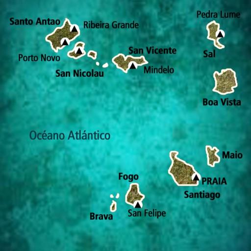 Mapa Cabo Verde - Viaje Cultura Africana y Viajes