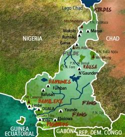 Camerun Mapa