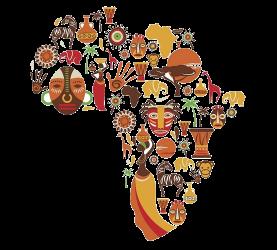 AFRICA mapa variedad