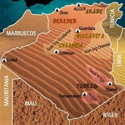 Mapa Argelia. Información