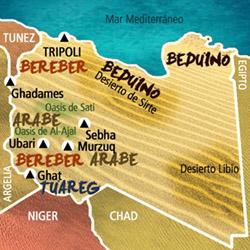 Mapa Libia. Información