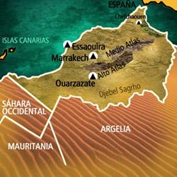 Mapa Marruecos. Información