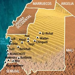 Mapa Mauritania. Información