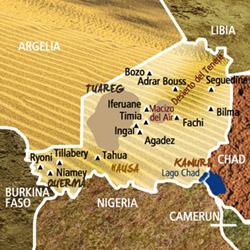 Mapa Níger. Información