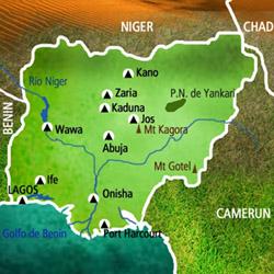 Mapa Nigeria. Información
