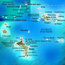 Mapa Seychelles. Información