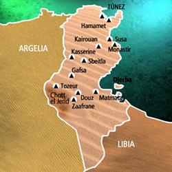 Mapa Túnez. Información