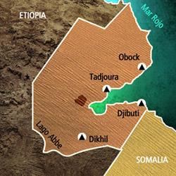 Mapa Yibutí. Información