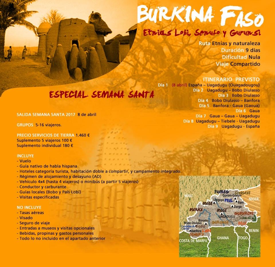 Viaje Burkina Faso Lobi y Senufo