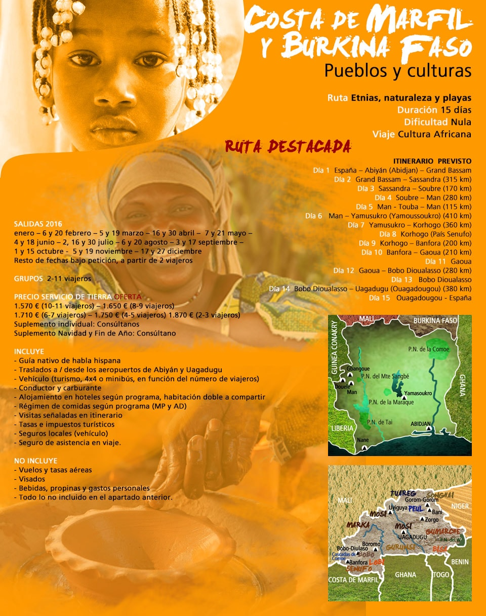 Viajar a Costa de Marfil y Burkina Faso