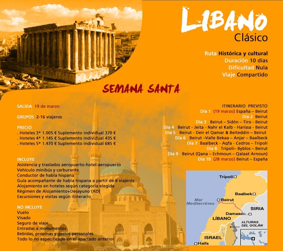 Viaje a Líbano - Semana Santa