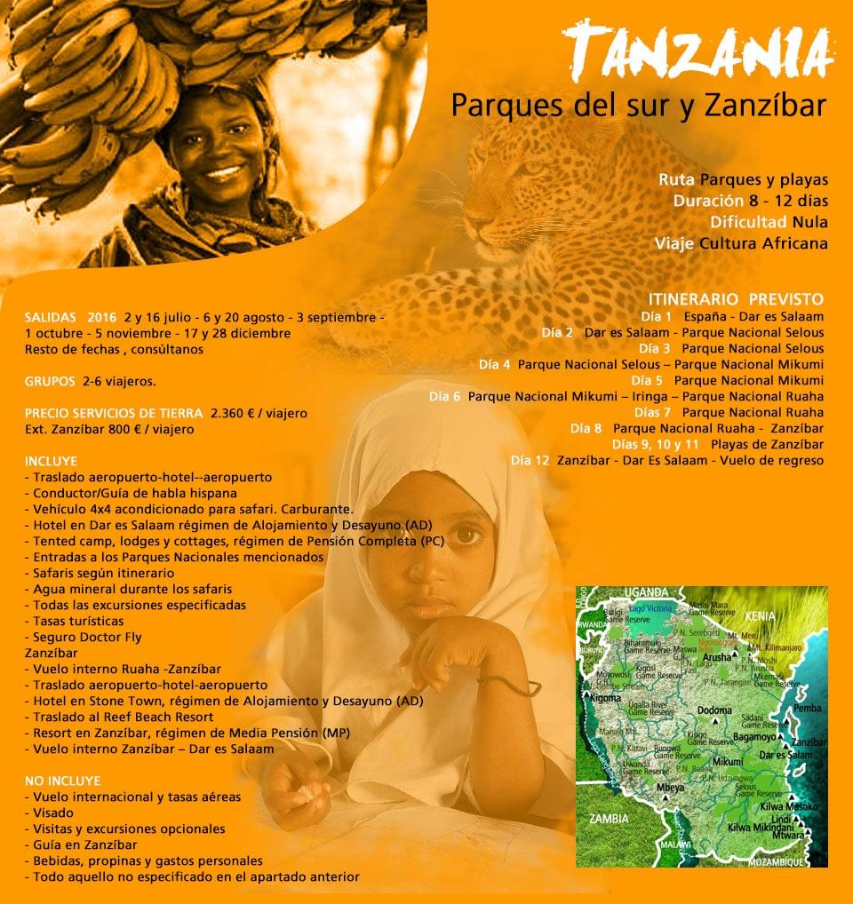 Tanzania - parques del Sur y PLaya
