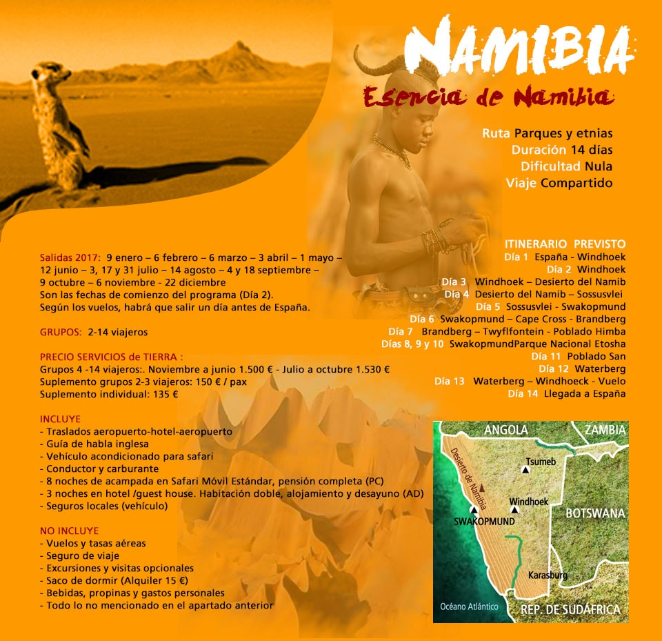Viaje Namibia - Safari en Namibia