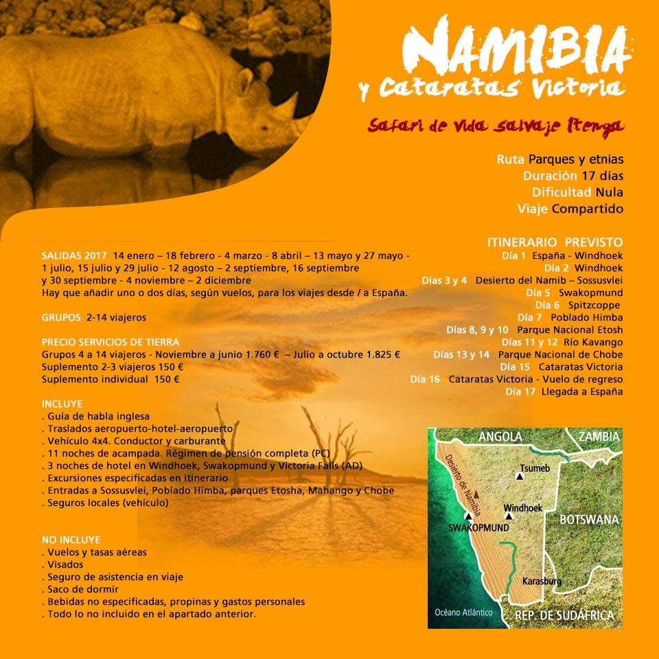 Viaje a Namibia y Cataratas Victoria - de safari a namibia